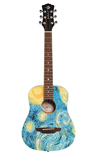 Luna Travel 3/4 Size Acoustig 6 String Guitar w/ Starry Nigh