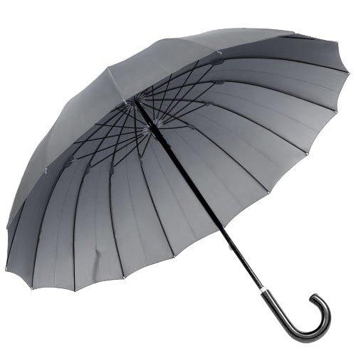 煌(kirameki) 16本骨傘 ブルーグレー 【高強度で強風に強い/大きな親骨65cm/デュポン社製撥水加工】