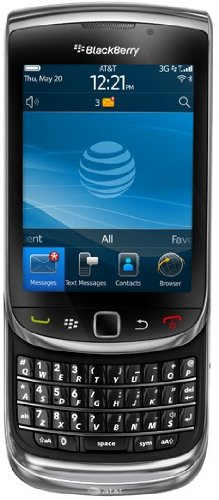 BlackBerry Torch 9800 Unlocked GSM Slider Cell Phone w/ Keyboard + Touchscreen and Optical Trackpad - Black