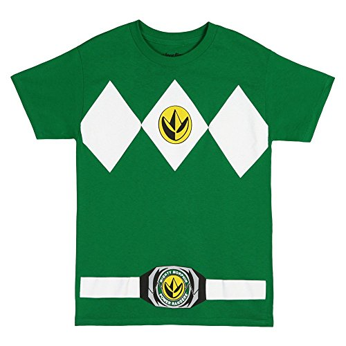 The Power Rangers Green Rangers Costume Adult T-shirt Tee, Green, Medium (Power Rangers Green Tshirt compare prices)