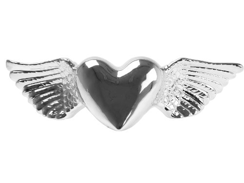 Present Time Wanted Ceramic Heart Wings Money Bank