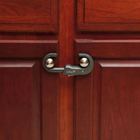 "Safety 1st Cabinet Lock 4.75"" Carded 2 / Pack - 1"