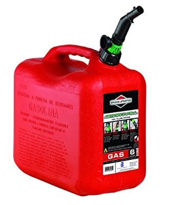 Briggs & Stratton 85060 6-Gallon Auto Shut Off Gas Can