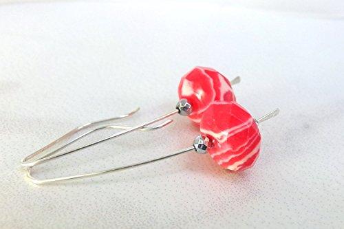 hot-pink-earrings-pink-rhodonite-earrings-sterling-silver-long-drop-earrings-pink-white-earrings-nat