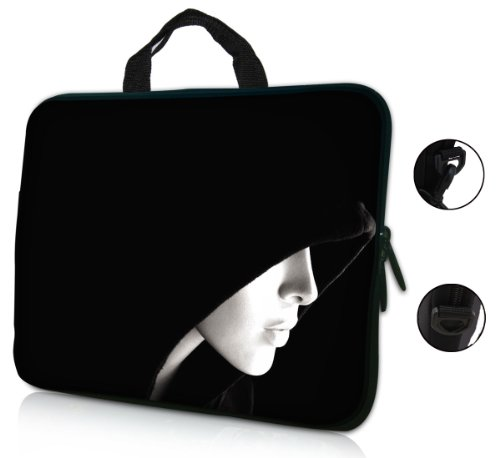 15 15.6 inch Lady Face Design Laptop Sleeve