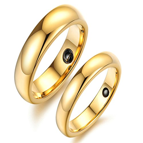 Daesar Stainless Steel Retro Energy Magnetic Stone Rings for Men Engagement Gift Size:8 (Groupon For Hotels compare prices)