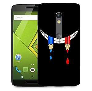 Snoogg Pencil Smile Designer Protective Back Case Cover For Motorola Moto X Play