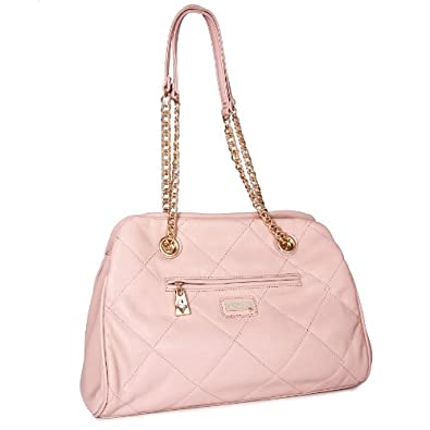 MIADORA Kimberly Blush Quilted Shoulder Chain Bag