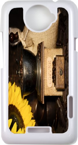 Rikki KnightTM Still Life With Antique Coffee Grinder And Sunflower - White Hard Case Cover for HTC ONE X