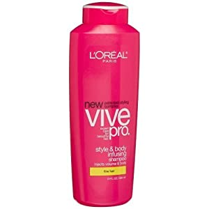 L'oreal Vive Pro Style & Body Infusing Shampoo for Fine Hair, 13 Oz.