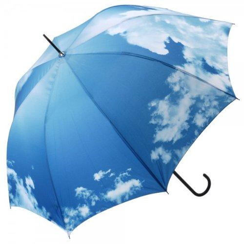 Paraguas de cielo soleado