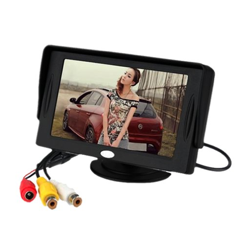 4.3 TFT LCD Car Monitor Reverse rearview Color camera DVD VCR CCTV car reverse rear camera 4 3 tft lcd monitor 2 in 1 parking system for peugeot 3008 3008cc 5d crossover 2008 2012