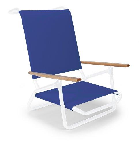 Telescope Casual Light N' Easy Low Boy Chair, Gloss White Frame Finish With Atlantis Blue Fabric