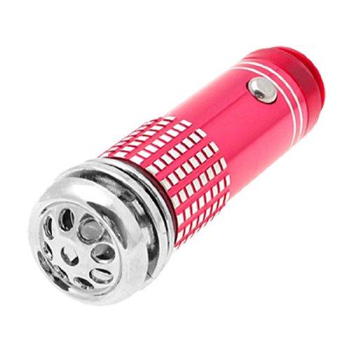 Sodial(R) Mini Fresh Air Purifier / Oxygen Bar For Auto Car - Red