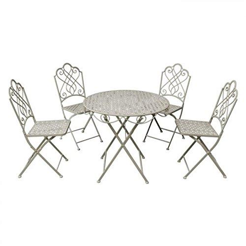 Gardman Gartenmöbel Bistro Set, Klapp-Garnitur für 4 Personen, braun bestellen
