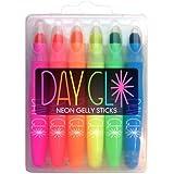International Arrivals Day Glo Neon Gelly Sticks, Set of 6