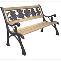 DC America SL-PB-168-BR Friendship Kids Bench, Cast Iron Frame and Hardwood Slats, Rust Resistant Bronze Finish from DC America