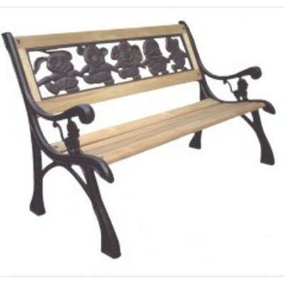 DC America SL-PB-168-BR Friendship Kids Bench, Cast Iron Frame and Hardwood Slats, Rust Resistant Bronze Finish