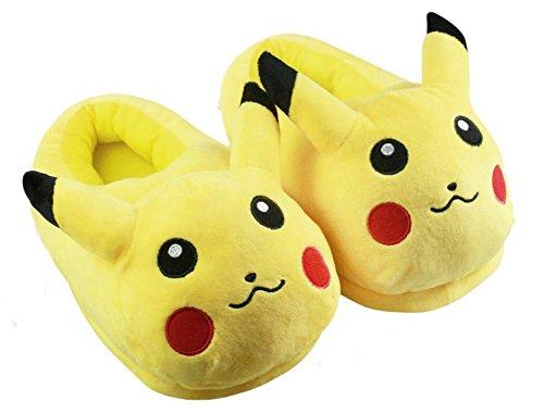 BSBL-Netter-Pokemon-Pikachu-weicher-Plsch-Pantoffeln-Karikatur-Eltern-Kind-Schuhe