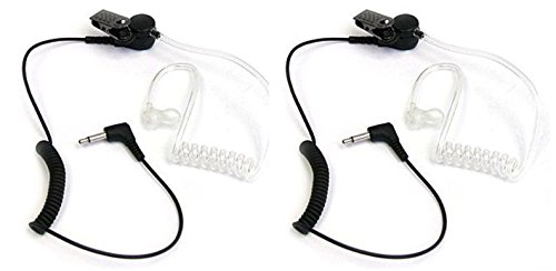 2 PCs of Maximal Power RHF 617-1N 3.5mm Surveillance Plug Receiver/Listen Only Audio Earpiece for 2-Way Radio Transceivers and Radio Speaker Mics