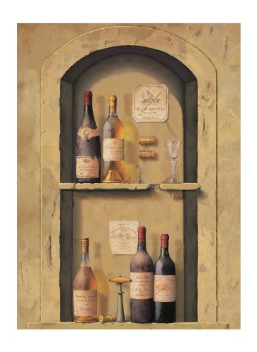 York Wallcoverings Europa Ii Wine Bottle Niche Prepasted Mural, Tan/Reds/Golds/Charcoal front-533174