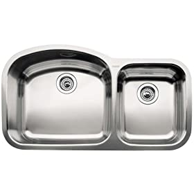 Blanco : 510-882 Wave Stainless Steel Sink (Depth: 10in / 7in)