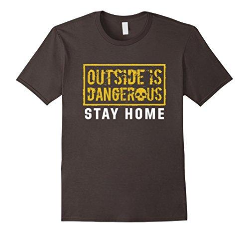 Mens-EmmaSaying-Outside-Is-Dangerous-Skull-Design-Cool-T-Shirt-Asphalt