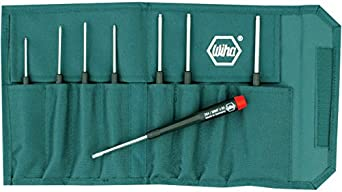 Wiha 26499 Ball End Hex Screwdriver Set, Inch, 8 Piece