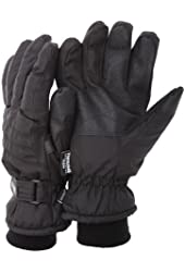 FLOSO® Mens Thinsulate Padded Thermal Gloves with palm grip (3M 40g)