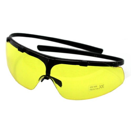 Stabile Oramics Sonnenbrille und Schutzbrille für Softair-Waffen – Gelbe Tönung / Gelbe Gläser – Ideale Brille auch als Softair- / Arbeits- / Fahrrad- / Sport- und Sonnenbrille – Ideal gegen blendendes Licht bei Nachtfahrten