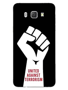 United Against Terrorism - Love For Country - India - Hard Back Case Cover for Samsung J7 (2016) - Superior Matte Finish - HD Printed Cases and Covers