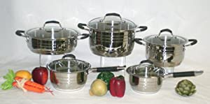 Ballington 18/10 Stainless Steel 10 Piece Cookware Set