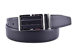 CALLESTO Men's Leather Belts(CA1013DPP739_Black_40)