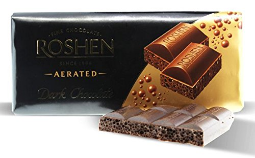 Roshen, Dark Aerated Extra Chocolate 100gr Bar (4 pcs) (Roshen Chocolate Bar compare prices)