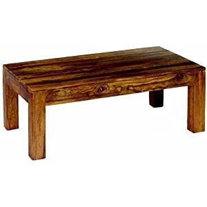 Wooden Chunky Traditional Coffee Table Made from Indian Hardwood Solid Handmade Solid Wood Cube Sheesham Table       reviews and more news