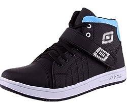 Essence Mens Black Velcro Casual Shoe - 6