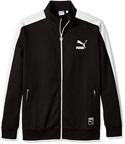 PUMA Men's T7 Track Jacket, Puma Black, Large
