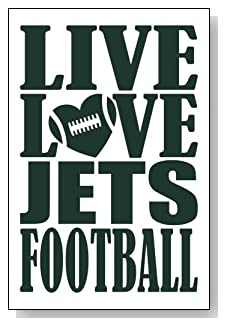 Live Love I Heart Jets Football lined journal - any occasion gift idea for New York Jets fans from WriteDrawDesign.com