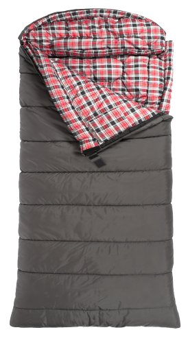 TETON Sports Celsius XXL -18 Degree C / 0 Degree F Flannel Lined Sleeping Bag (90″x 39″, Grey, Left Zip)