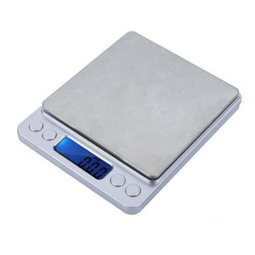 KKMOON Haute précision Mini Digital Platform bijoux échelle pesant Balance électronique avec deux plateaux Portable 300g / 0. 01 g fonction de comptage LCD bleu g/ct/dwt/ozt/oz/gn