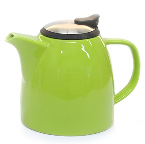 Drago Ceramic Teapot W Stainless Steel Lid Extra Fine Import It All