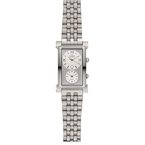 Charmex Zermatt II 2565 46mm Stainless Steel Case Black Calfskin Synthetic Sapphire Men's Watch