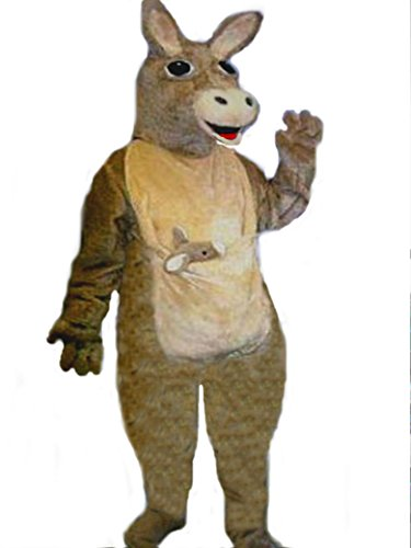 Mascots USA by CJs Huggables Custom Pro Low Cost Kangaroo Mascot Costume