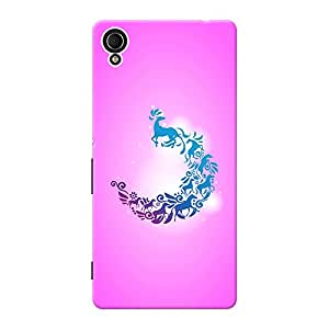 INKIF Monster Designer Case Printed Mobile Back Cover for Sony Xperia M4 Aqua Dual (Pink )