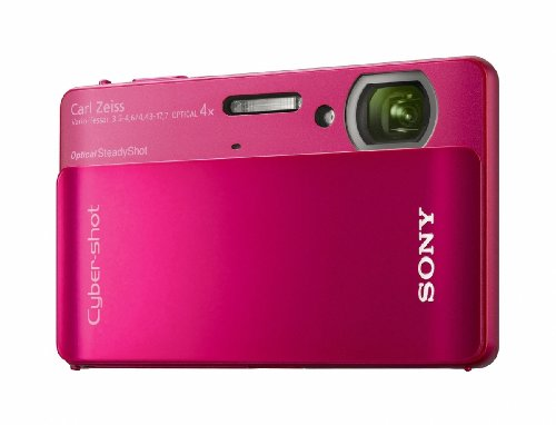 Sony Cyber-shot DSC-TX5 10.2MP CMOS Digital Camera with 4x Wide Angle Zoom with SteadyShot Image Stabilization and 3.0 Inch Touch Screen LCD (Red) (Sony Waterproof Digital Camera compare prices)