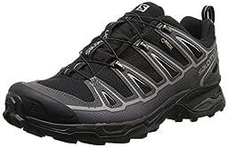 Salomon Men\'s X Ultra 2 GTX Multifunctional Hiking Boot, Black/Autobahn/Aluminum, 11 M US