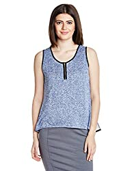 Mineral Women's Body Blouse Shirt (PU16A-607 KT_Blue_X-Large)