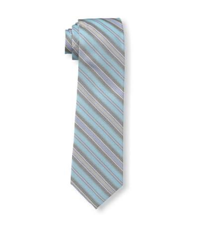 Ben Sherman Men's Hutton Stripe Tie, Aqua