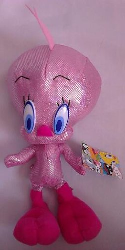 "Tweety Bird Sparkle Pink 9"" Plush - 1"