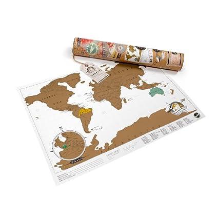 Mapa mural para rascar del Mundo Scratch Travel (42x30)